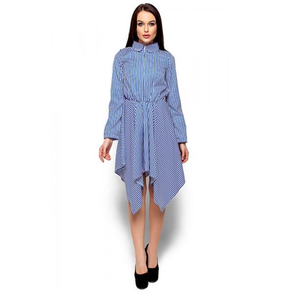 Платье Ассиметрия синее