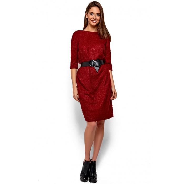 Сукня з ангори з вирізом на спині марсала 146948a2aed1f
