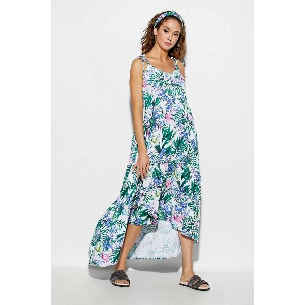 07bb828c1f1 Летнее платье с цветами синими