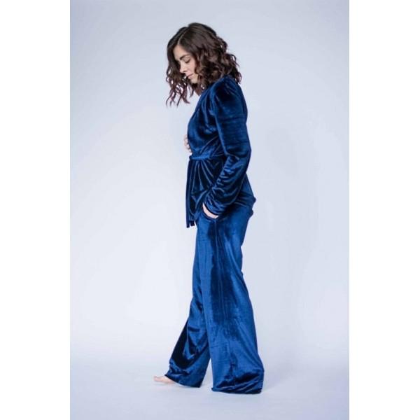 Велюровый костюм синий