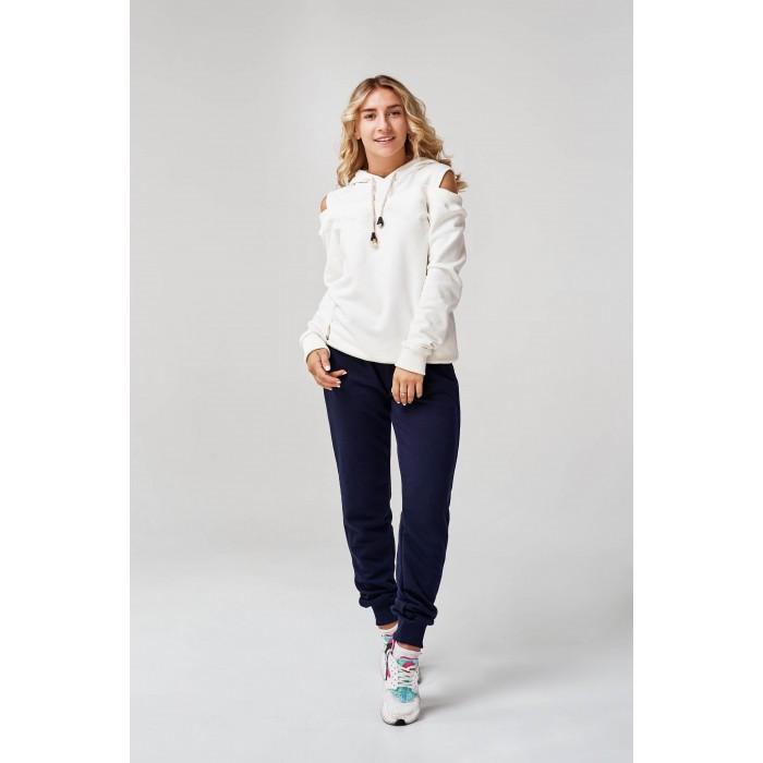 Жіночий спортивний костюм з капюшоном біло-синій ae732d49b2a18