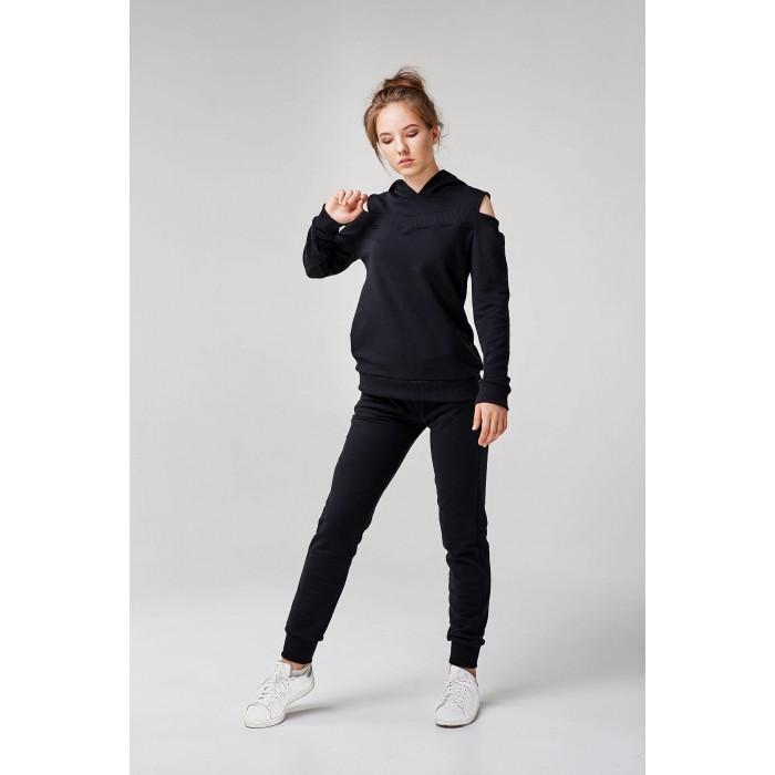 Жіночий спортивний костюм з капюшоном чорний 6a5abb4046e5d