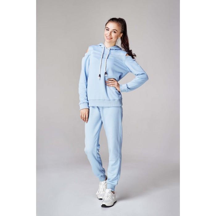 Жіночий спортивний костюм з капюшоном блакитний 48fa5d38b9d9a