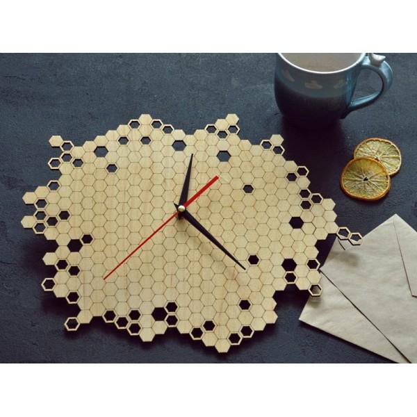 Настенные часы Honeycomb