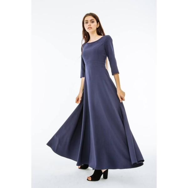 Платье в пол синее b2808679296c4