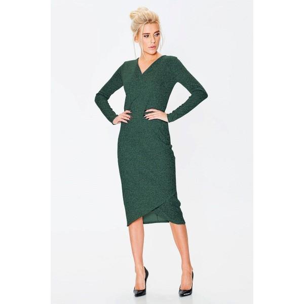 Трикотажное платье из меланжа