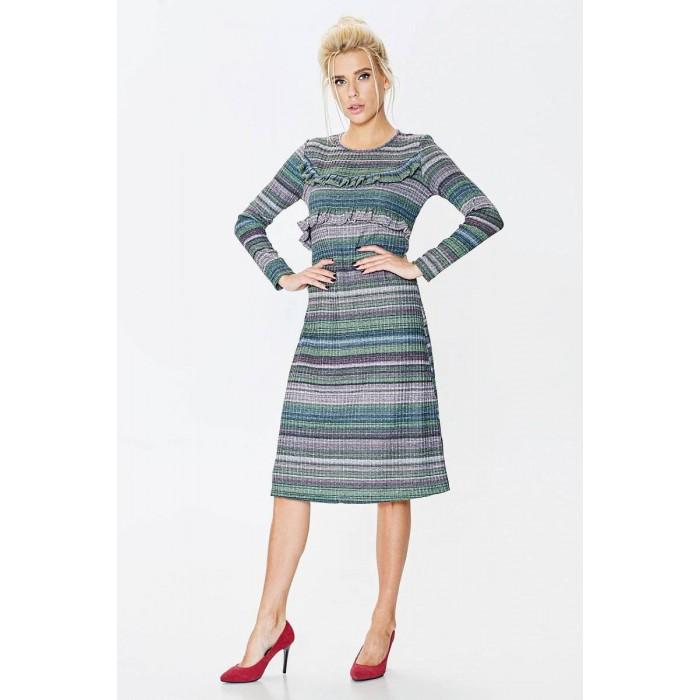7e0a436f78c Платье с люрексом и рюшем