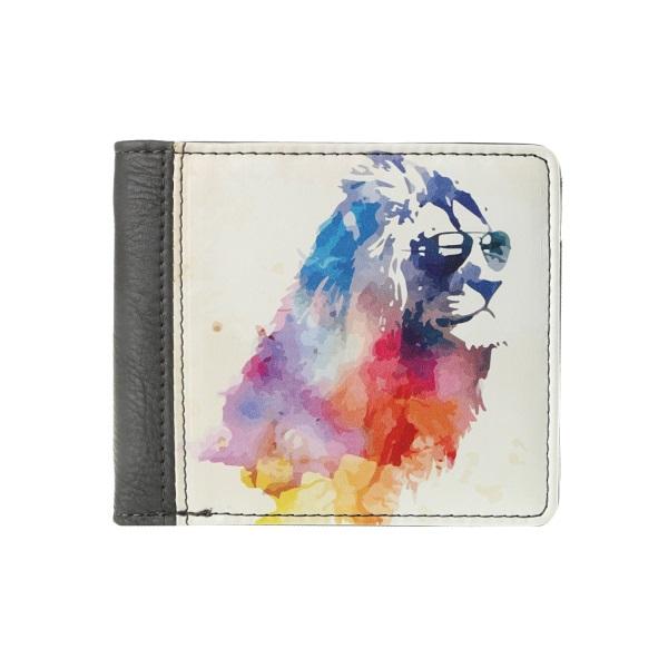Компактный кошелек Лев