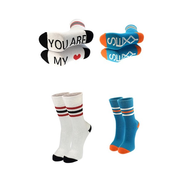 Набор носков для пары WhiteBlue