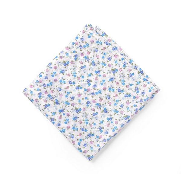 """Нагрудный платок """"паше"""" хлопок в синие цветы"""