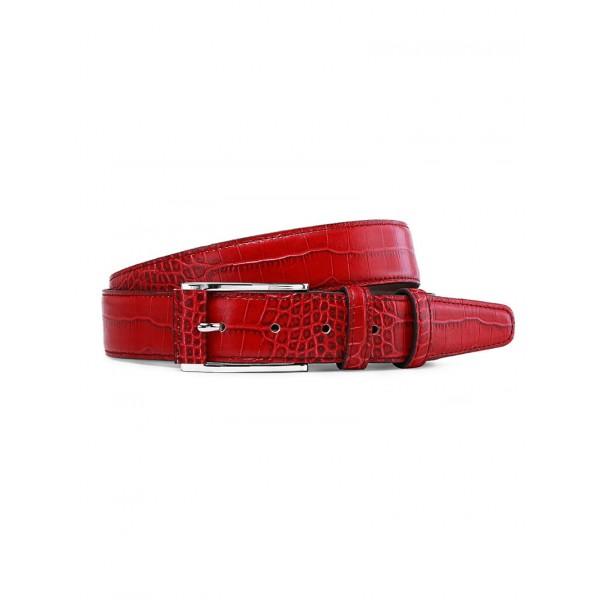 Кожаный ремень Red Croco