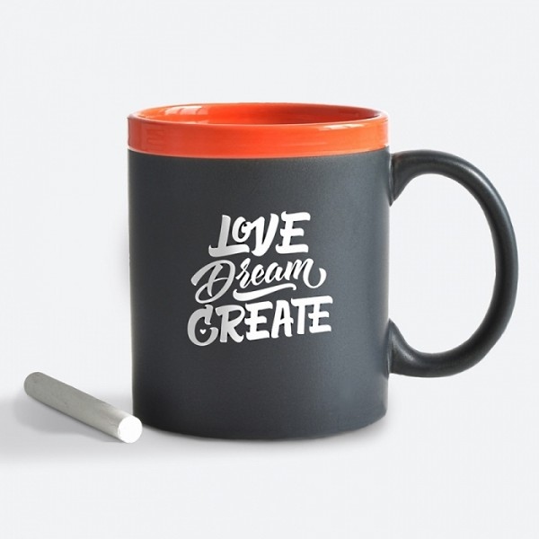 Чашка Love.Dream.Create. Оранж