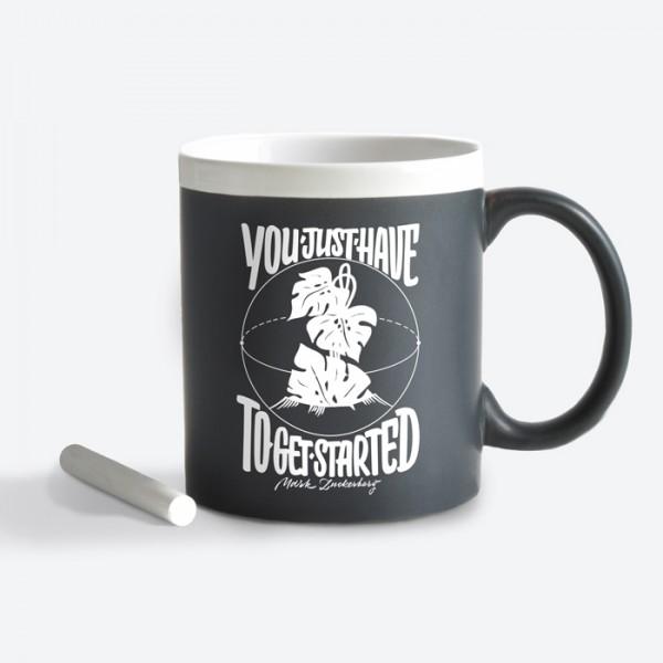 Чашка с мелком Get started GY2677blk