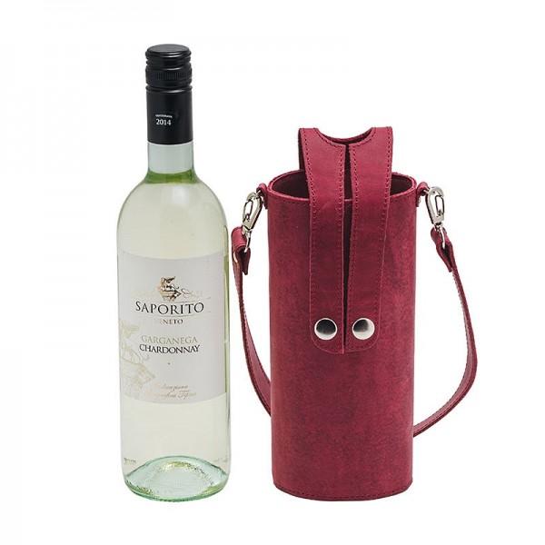 Кожаная сумка-чехол для бутылок
