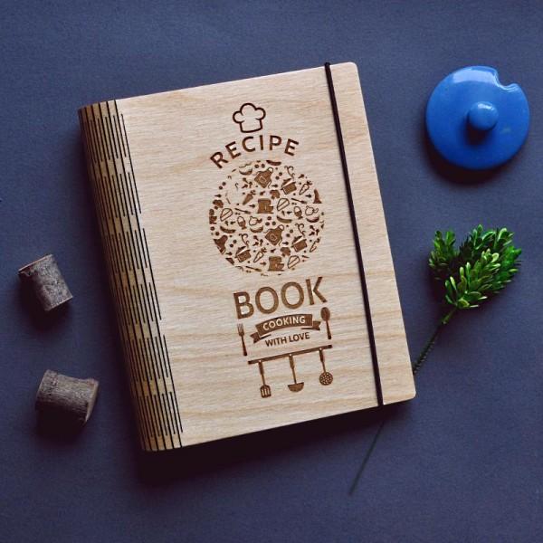 Блокнот из дерева Recipe book
