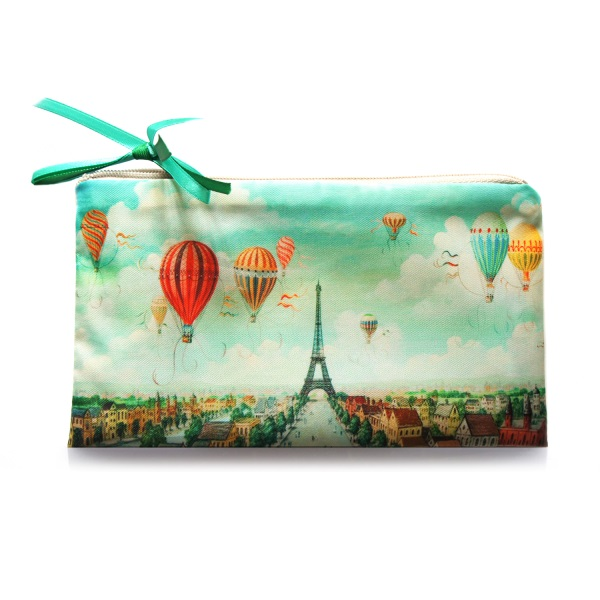 Косметичка Париж бирюзовый
