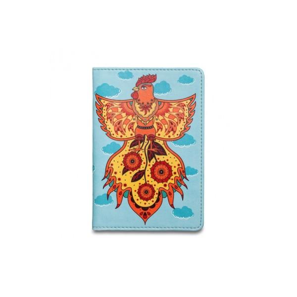 Обложка на паспорт Огненный петух