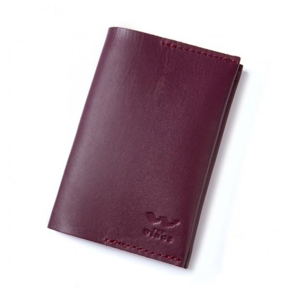 Паспортная обложка кожаная бордо