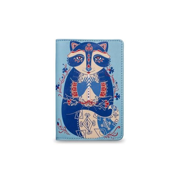 Обложка на паспорт Васильковый енот
