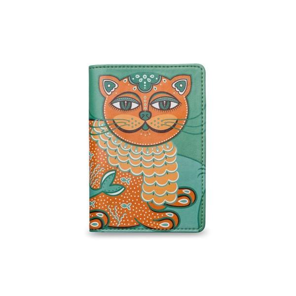 Обложка на паспорт Изумрудный кото-кит