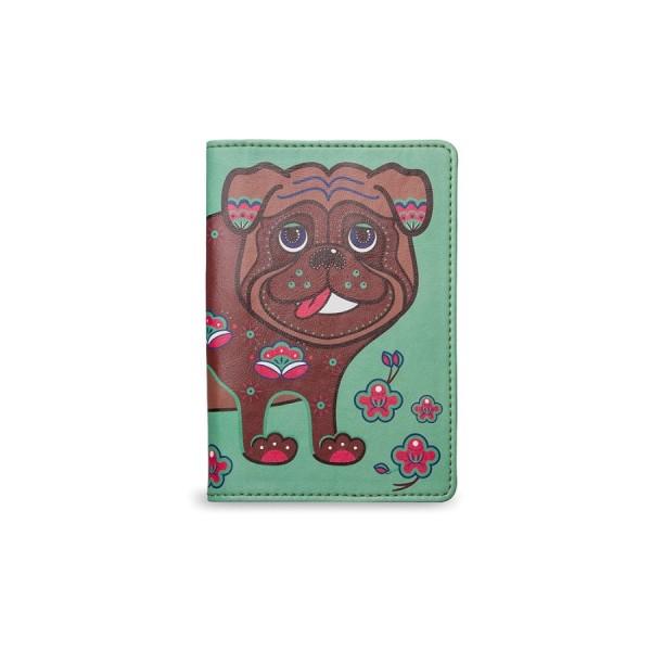 Обложка на паспорт Абрикосовый мопс