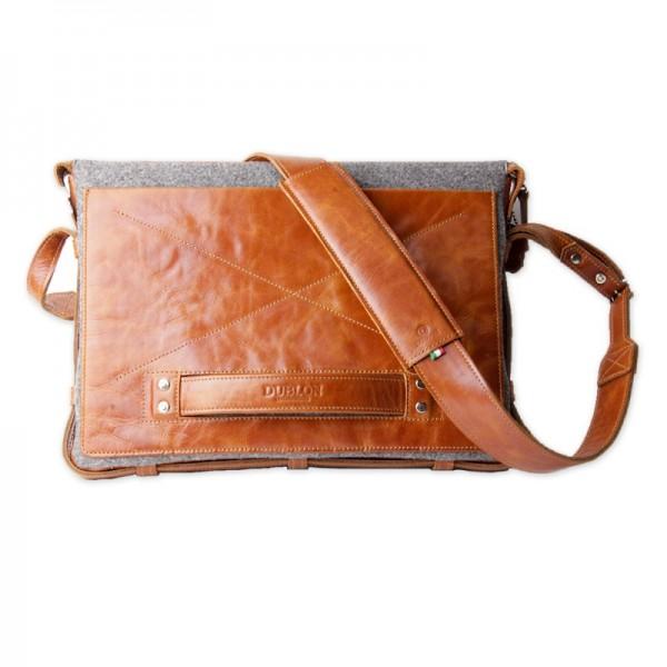Мужская сумка для ноутбука из кожи браун