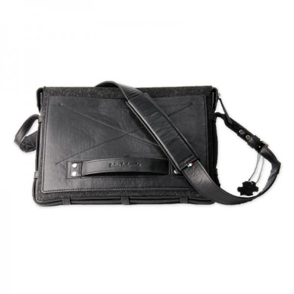 Мужская сумка для ноутбука из кожи черная