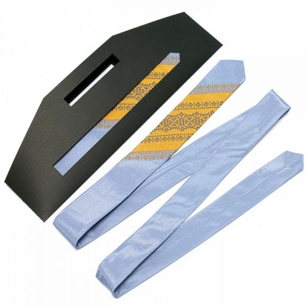 Атласный галстук с вышивкой NR3093bl