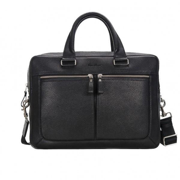 Кожаный портфель GO-AHEAD MAN черный