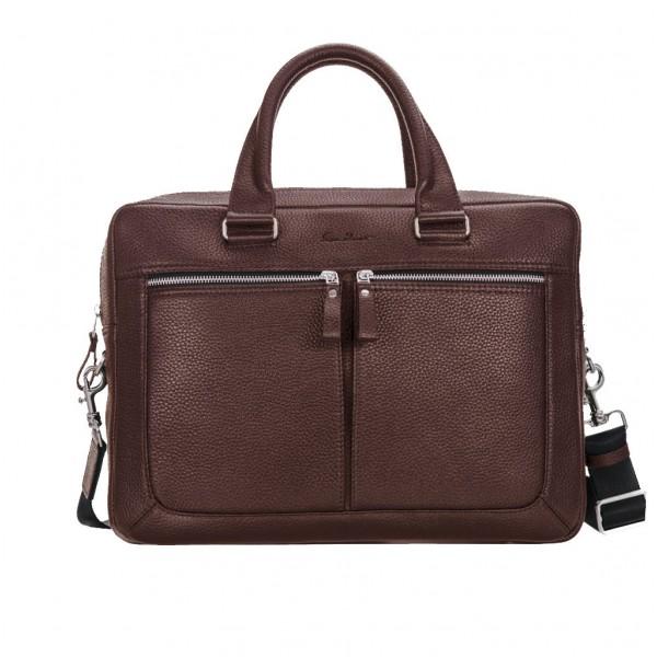 Кожаный портфель GO-AHEAD коричневый