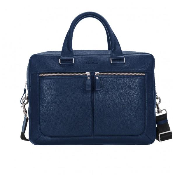 Кожаный портфель GO-AHEAD MAN синий