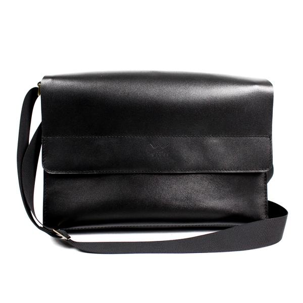 Кожаная сумка через плечо TWS blk