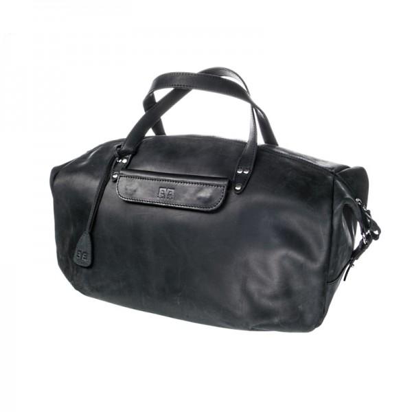 Дорожная кожаная сумка LVL2602blk