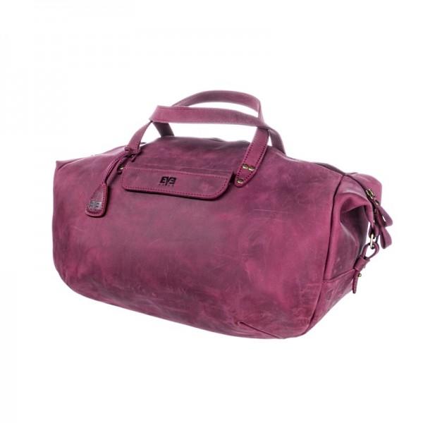 Дорожная кожаная сумка LVL2603bordo