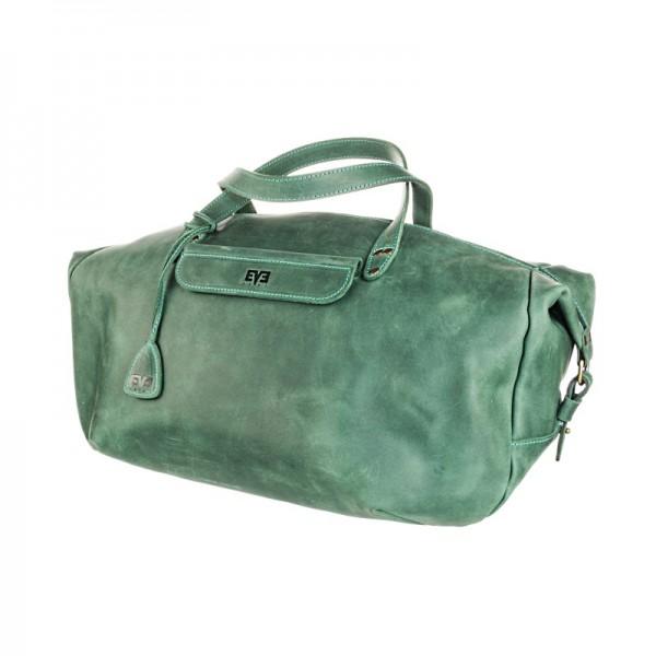 Дорожная кожаная сумка LVL2604grn
