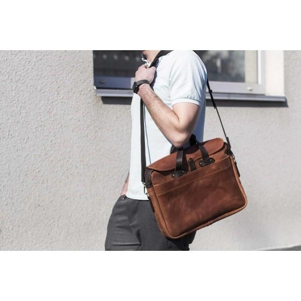 Кожаный мужской портфель BN1886br