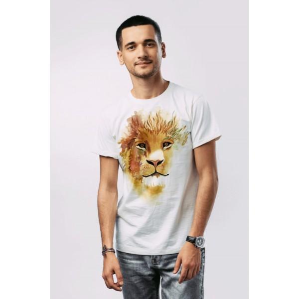 Мужская футболка Львенок