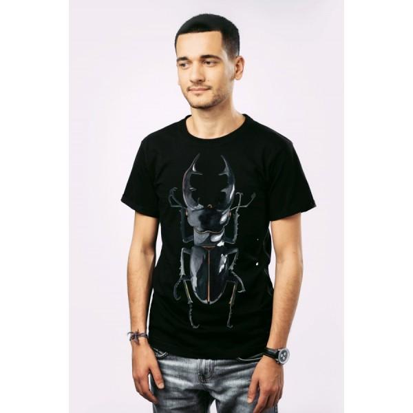 Мужская футболка Жук на черном