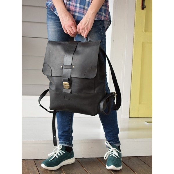 Рюкзак кожаный BBK812blk