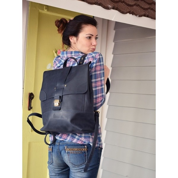 Рюкзак кожаный BBK810dbl