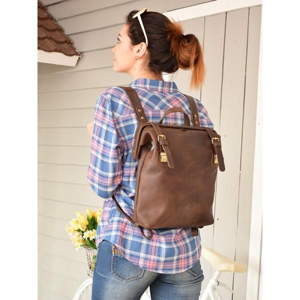 Кожаный рюкзак BBK793br коричневый