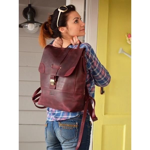 Рюкзак кожаный BBK811bordo