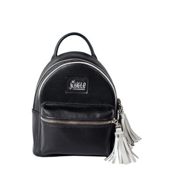Рюкзак из экокожи мини блек