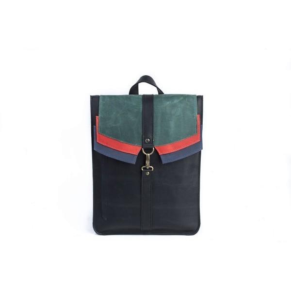 Кожаный рюкзак Блоки
