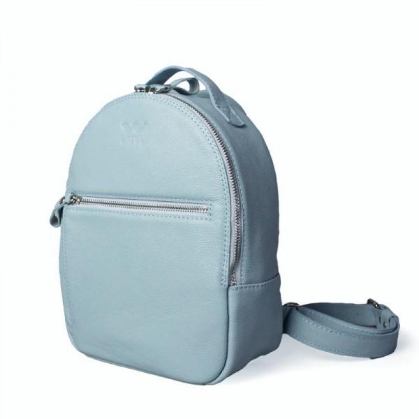Кожаный рюкзак трансформер G.S. Блу
