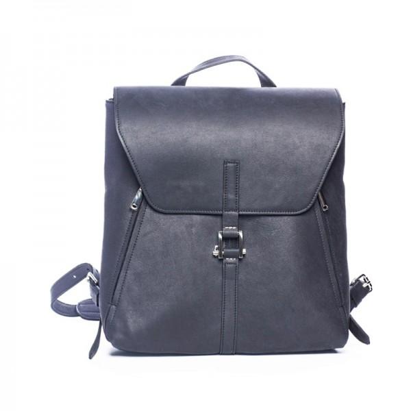 Мужской кожаный рюкзак Dwarf блек