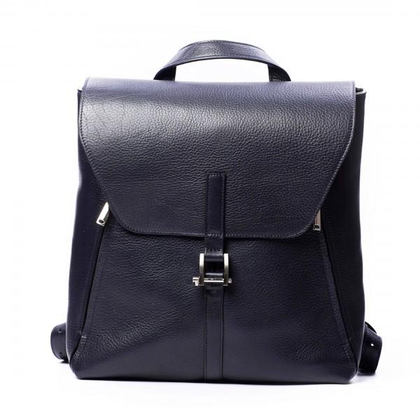 Мужской кожаный рюкзак Dwarf синий