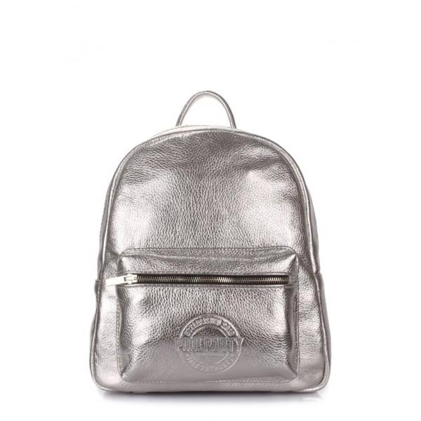 Рюкзак XS серебро кожа