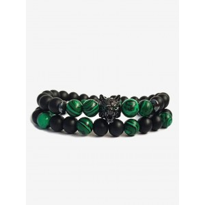 Набір браслетів Set Green Wolf х2