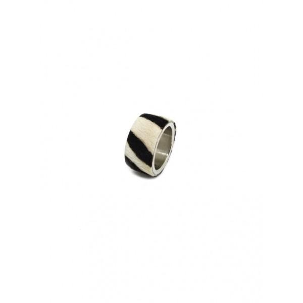 Кольцо STEEL зебра